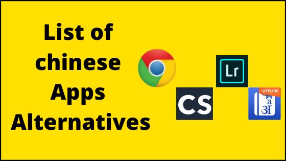 alternatives for chinese app