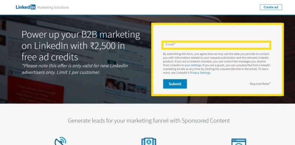 linkedin ads credit
