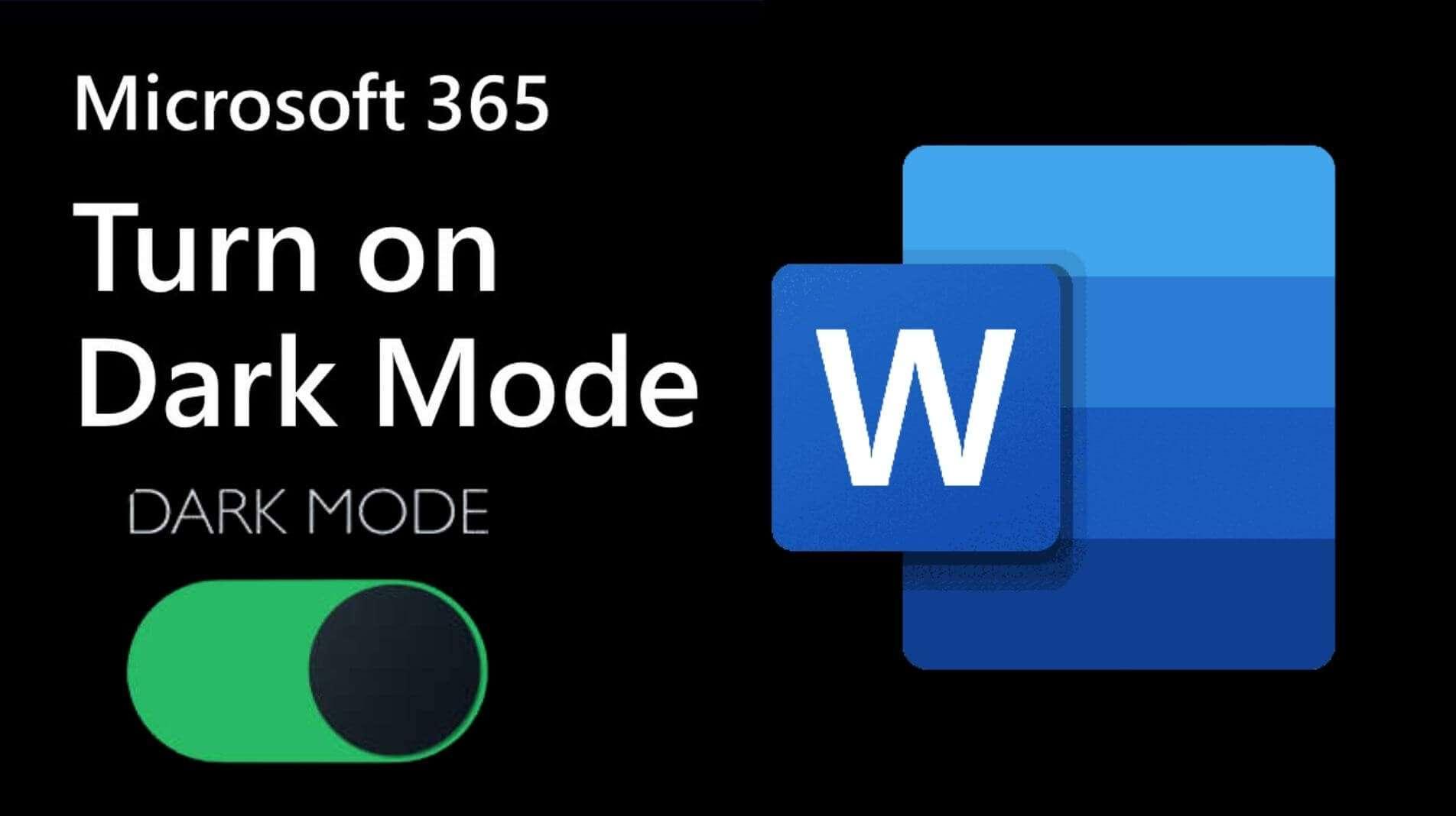 How you can turn on dark mode in microsoft word