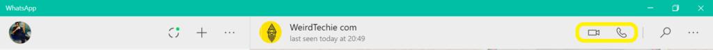 WhatsApp desktop rollout calling feature