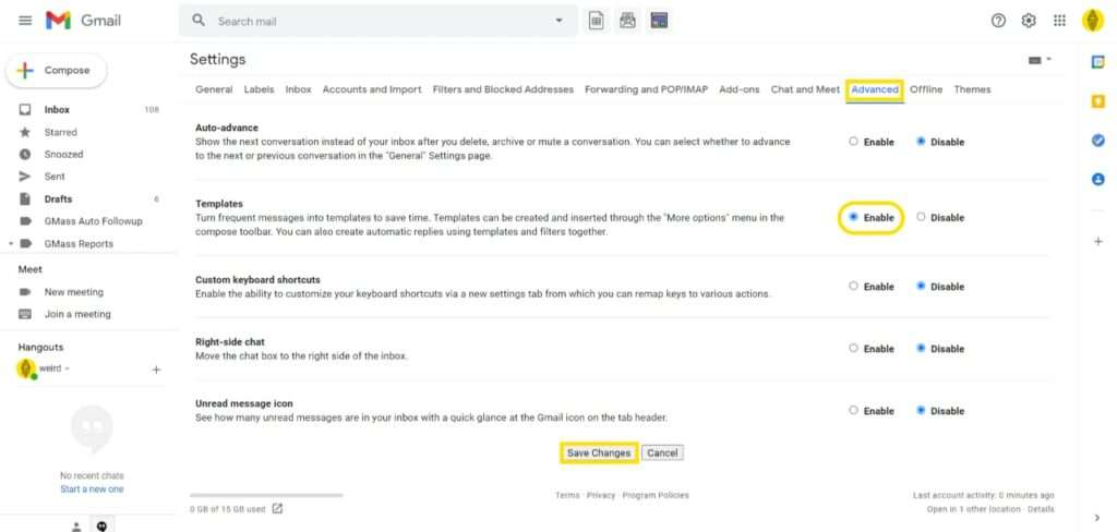 How To Set Up Templates in Gmail to save time